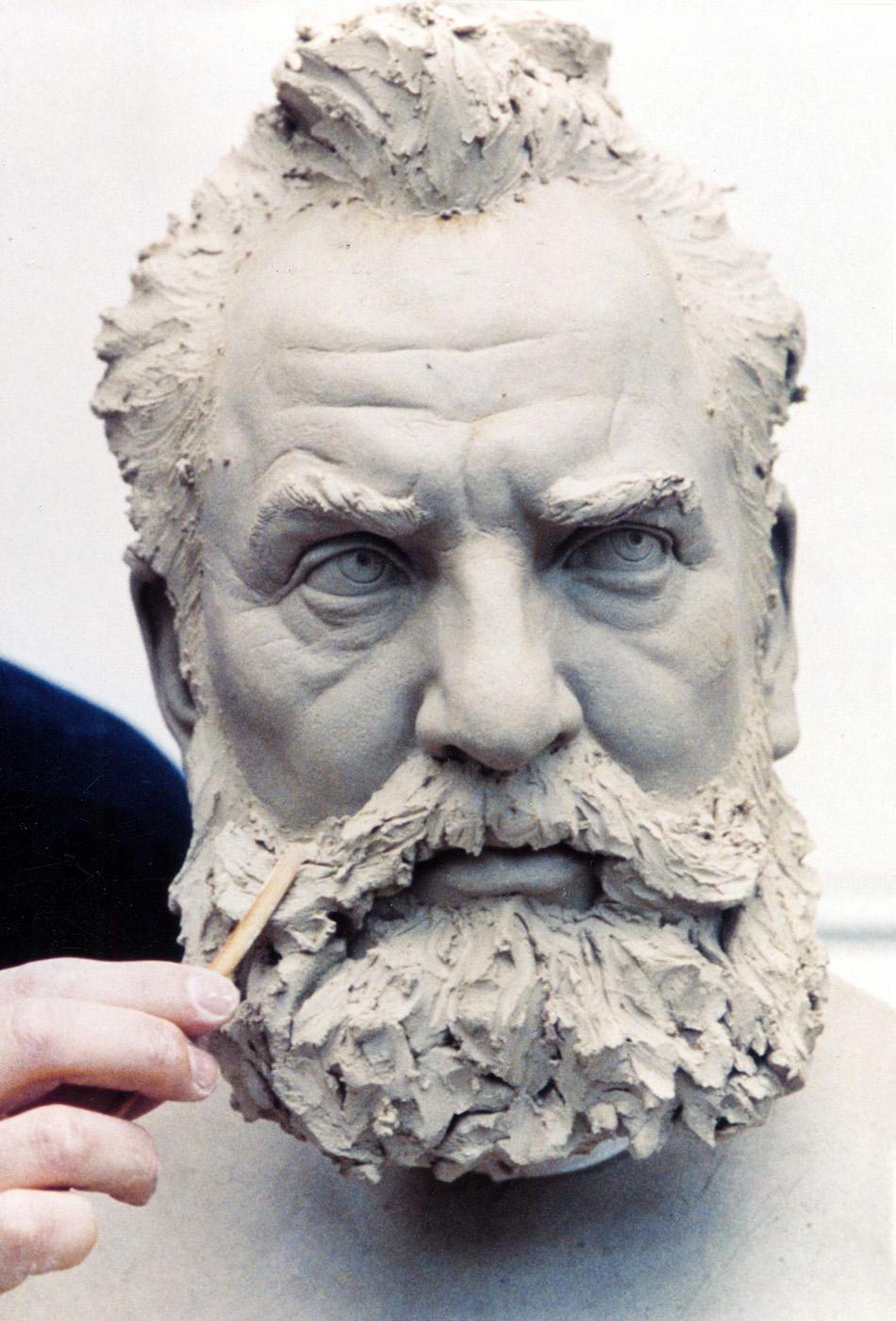 Portrait sculptor Alexander Graham Bell