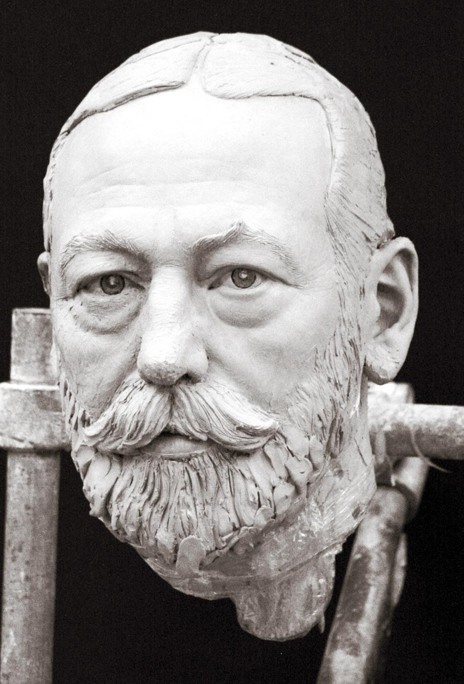 Portrait sculptor King George V
