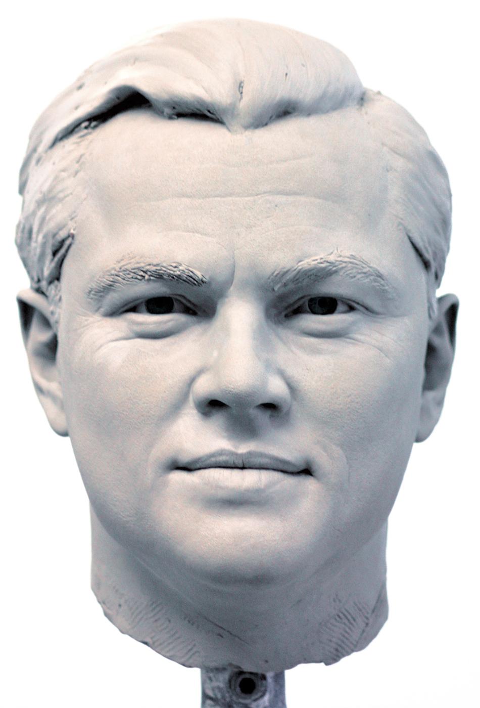 Portrait sculptor Leonardo Di Caprio