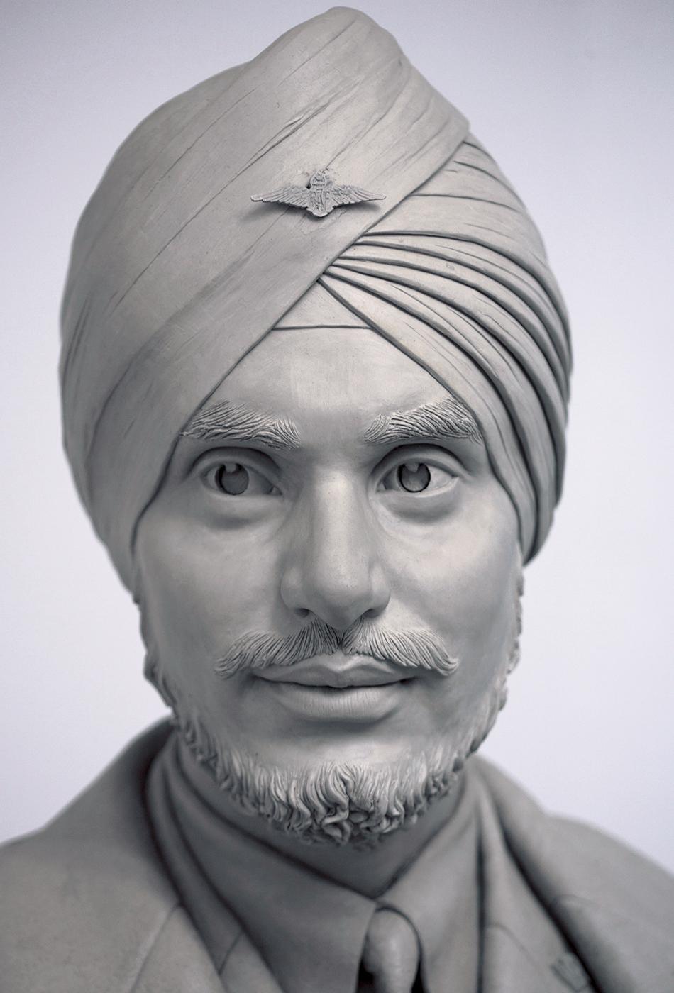 Portrait sculptor Mahinder Sigh Pujji