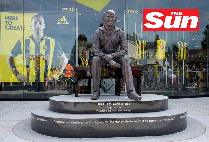 Watford unveil amazing Graham Taylor statue outside Vicarage Road ahead of final pre-season game